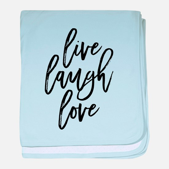 Live Laugh Love baby blanket