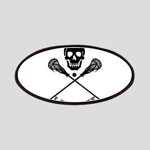 Skull and Lacrosse Sticks Patch