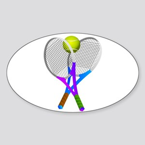 Tennis Rackets and Ball Sticker