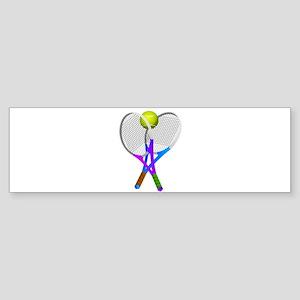 Tennis Rackets and Ball Bumper Sticker