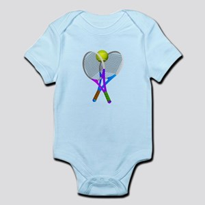 Tennis Rackets and Ball Body Suit