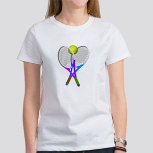 Tennis Rackets and Ball T-Shirt