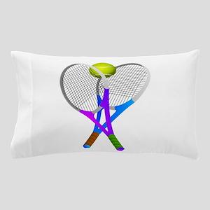 Tennis Rackets and Ball Pillow Case