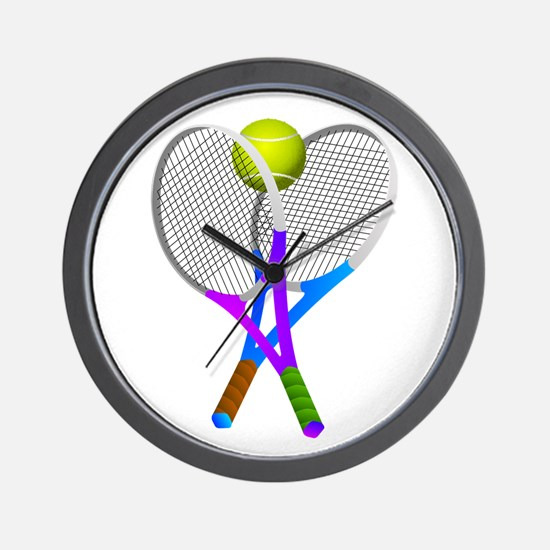 Tennis Rackets and Ball Wall Clock