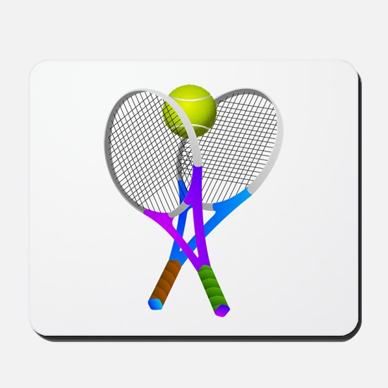 Tennis Rackets and Ball Mousepad