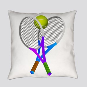 Tennis Rackets and Ball Everyday Pillow