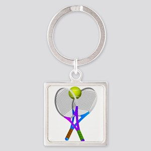 Tennis Rackets and Ball Keychains