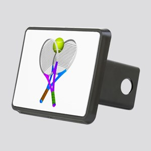 Tennis Rackets and Ball Rectangular Hitch Cover