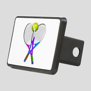Tennis Rackets and Ball Rectangular Hitch Cover