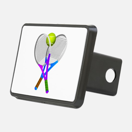 Tennis Rackets and Ball Hitch Cover