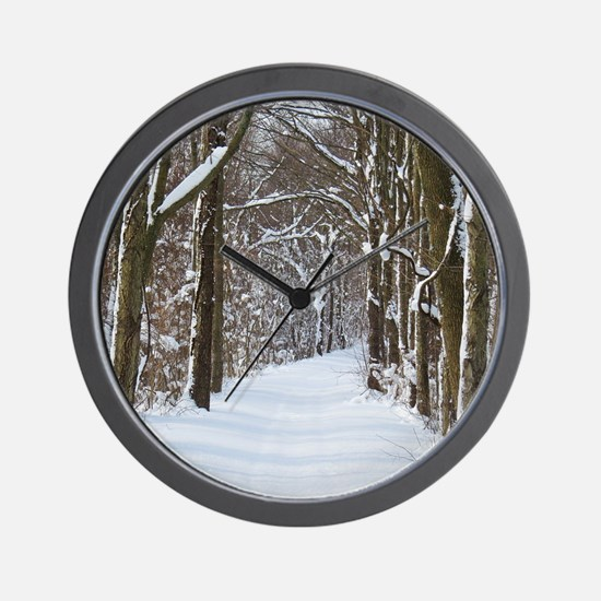 Snow trail Wall Clock