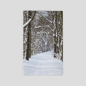 Snow trail Area Rug