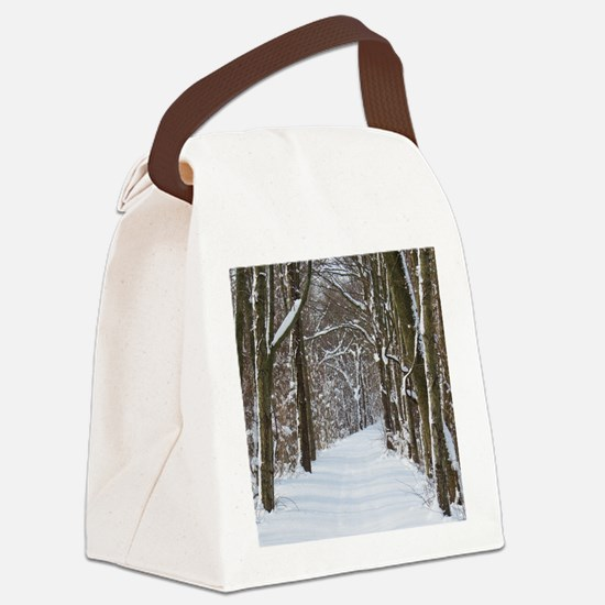 Snow trail Canvas Lunch Bag