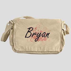 Bryan surname artistic design with F Messenger Bag