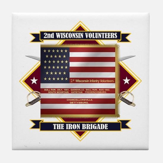 2nd Wisconsin Volunteers Tile Coaster