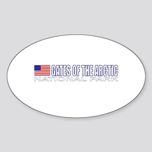 Gates of the Arctic National Oval Sticker