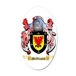 McAllaster Oval Car Magnet
