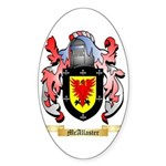McAllaster Sticker (Oval 50 pk)