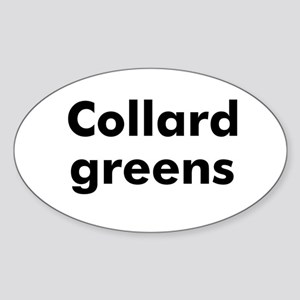 Collard greens Oval Sticker