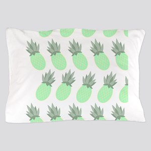 Exotic aqua pineapple pattern Pillow Case