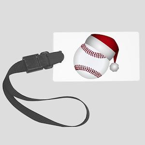 Christmas Baseball Large Luggage Tag