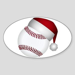 Christmas Baseball Sticker