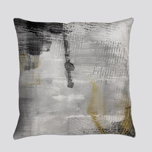 Black And White With Gold Everyday Pillow