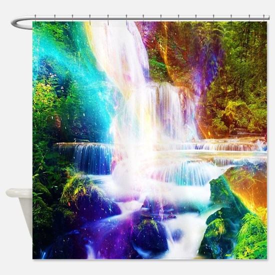 Unique Waterfall Shower Curtain
