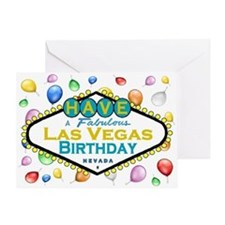 Have A Fabulous Las Vegas Birthday Card