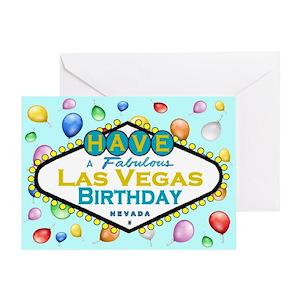 las vegas birthday greeting cards cafepress