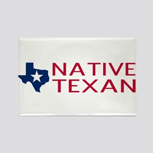 Native Texan Rectangle Magnet