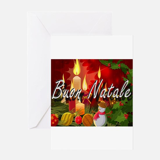 Merry Christmas-Buon Natale Greeting Cards
