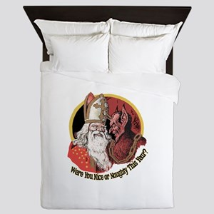 Where you naughty This Year? Queen Duvet