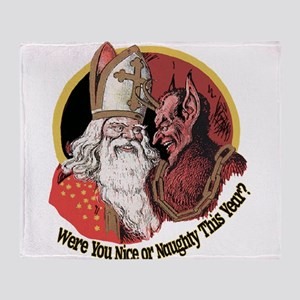 Where you naughty This Year? Throw Blanket