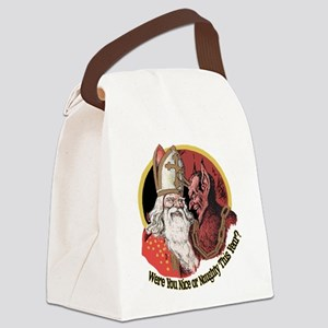 Where you naughty This Year? Canvas Lunch Bag