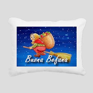Buona Befana Rectangular Canvas Pillow