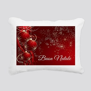 Buon Natale Rectangular Canvas Pillow