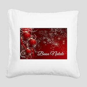 Buon Natale Square Canvas Pillow