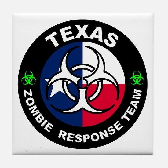 Texas ZRT White Tile Coaster