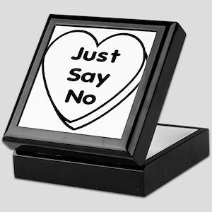 Anti Valentine JUST SAY NO! Keepsake Box
