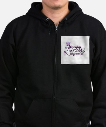 Princess, It isn't easy Zip Hoodie (dark)