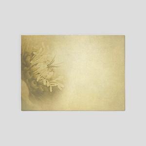 Hellebore-Christmas Rose 5'x7'Area Rug