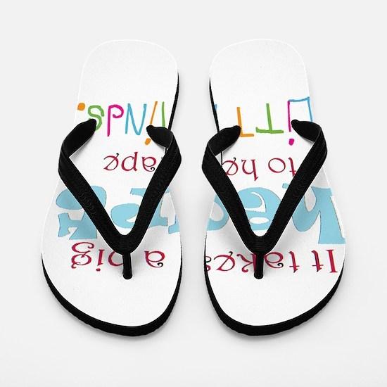 big heart: teacher, Flip Flops