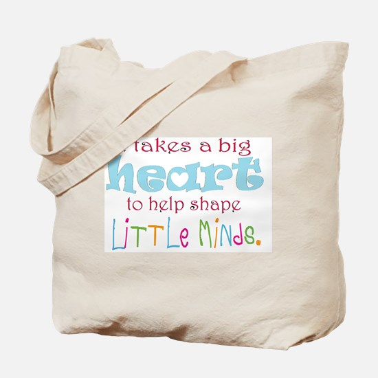big heart: teacher, Tote Bag