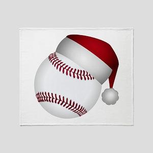 Christmas Baseball Throw Blanket