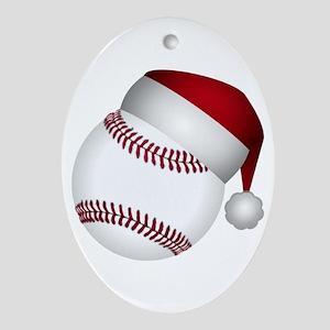 Christmas Baseball Oval Ornament