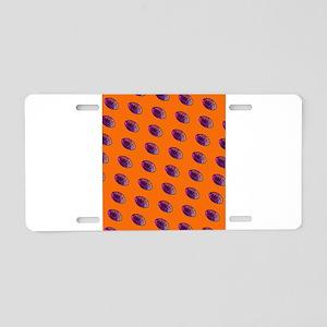 Orange Purple Football Couc Aluminum License Plate