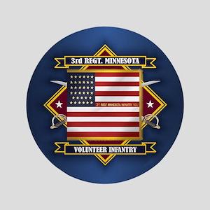 3rd Minnesota Infantry Button