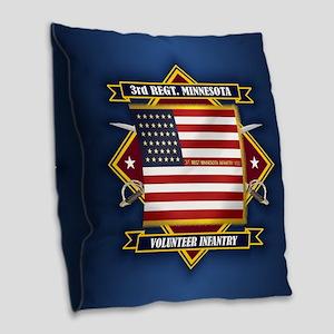 3rd Minnesota Infantry Burlap Throw Pillow