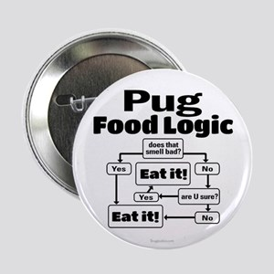 "Pug Food 2.25"" Button"